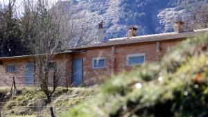 Magatzem de Vilanova de Sau on els Mossos van trobar un cadàver