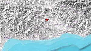 Mapa del epicentro del pequeño terremoto registrado en Málaga este jueves 11 de julio