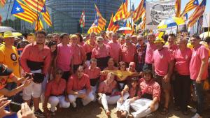 Membres de la Colla Vella es van desplaçar a Estrasburg amb motiu de la constitució del Parlament Europeu