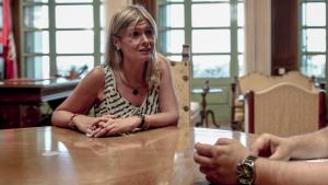Noemí Llauradó, presidenta de la Diputació de Tarragona, durant la conversa mantinguda amb TarragonaDigital.com
