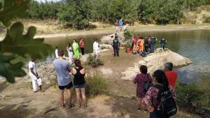 Operativo búsqueda del menor ahogado en el pantano de Pontón
