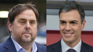 Oriol Junqueras i Pedro Sánchez