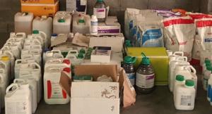Part dels productes fitosanitaris robats, recuperats pels Mossos