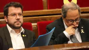 Pere Aragonès i Quim Torra