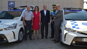 Presentació dels dos nous vehicles híbrids de la Guàrdia Urbana de Reus