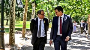 Quim Torra i Pedro Sánchez durant la seva reunió aquest dilluns