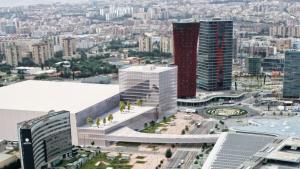 Recreació de l'ampliació del recinte firal Gran Via