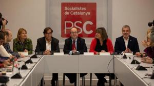 Reunió del PSC presidida per Miquel Iceta, el secretari del partit