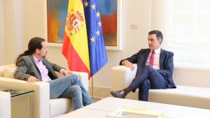 Sánchez i Iglesias han coincidit en la necessitat de conformar una majoria progresista al Congrés