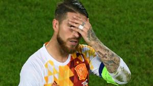 Sergio Ramos trist