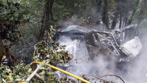 Un camionero ha perdido la vida tras despeñarse en la AS-35 en Asturias