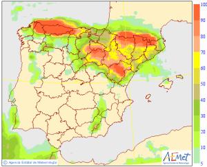 Un pequeño cambio de tiempo afectará sobre todo la tarde del miércoles, con lluvias en todo el interior norte