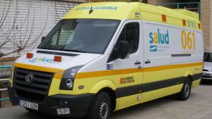 Una ambulancia del 061 de Aragón