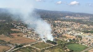 Una imatge aèria de la zona afectada per aquest foc.