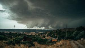 Varias tormentas severas barrieron Zaragoza y la Rioja ayer lunes por la tarde