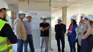 Visita a les obres del nou edifici de l'Escola Arrabassada.