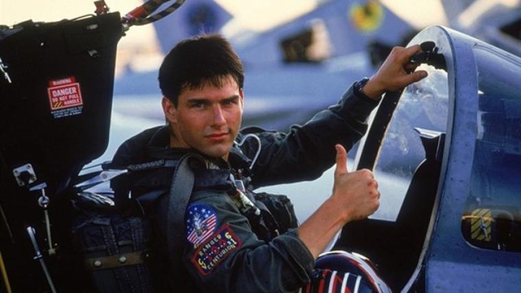 Cruise en la cinta original de 1986, dirigida por Tony Scott
