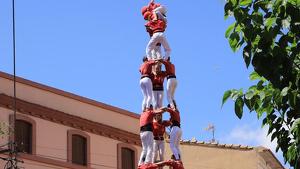 3de9 amb folre descarregat de la Colla Joves Xiquets de Valls a Llorenç del Penedès