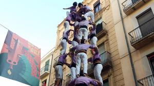 5de8 de la Colla Jove Xiquets de Tarragona a la diada del Cós del Bou