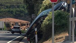 Accident a la C-55 a l'altura de Monistrol de Montserrat
