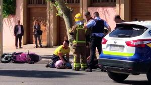 Accident entre un turisme i un ciclomotor a Cambrils