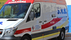 Ambulancia de Soporte Vital Básico en Valencia.