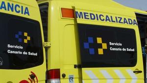Ambulancia del Servicio Canario de Salud.