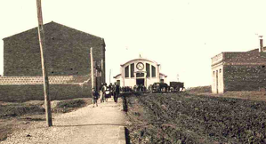 Any 1930, imatge del carrer Ample amb el Mercat de Sant Pere