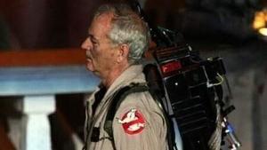 Bill Murray con el traje de 'Cazafantasmas' de nuevo
