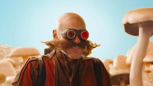 Carrey como el Dr. Eggman, archienemigo de Sonic