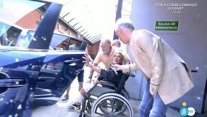 Chelo a punto de salir hacia el hospital