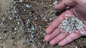 Desenes de boles de plàstic han tornat a aparèixer a la costa tarragonina