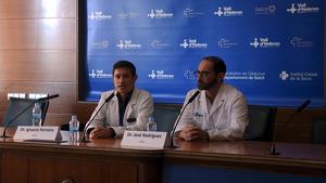 Dr. Ferreira i el coordinador de la Unitat d'Imatge Cardíaca
