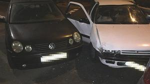 El coche sustraído por el menor tras accidentarse