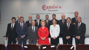 El Comitè Executiu de la Cambra de Comerç de Tarragona, amb la presidenta, Laura Roigé