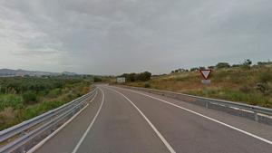 El conductor begut circulava per una ruta prohibida per l'N-420 al quilòmetre 864
