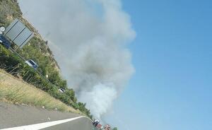 El foc ha començat a cremar al marge de l'autopista AP-7 a l'Hospitalet de l'Infant