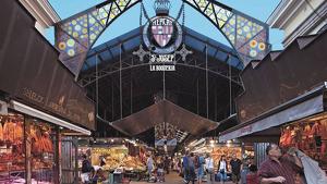 El mercat de la Boqueria, situat al centre de Barcelona