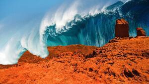 El tsunami hauria arrasat tot el planeta vermell
