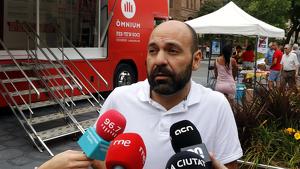 El vicepresident d'Òmnium, Marcel Mauri, ha atès als mitjans aquest dimarts a Tarragona