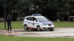 Els agents custodien el parc Etxebarria a Bilbao