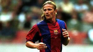 Emmanuel Petit en la seva etapa en el FC Barcelona