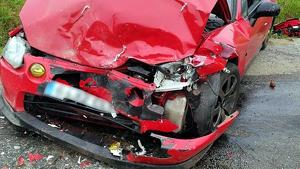 Estado de uno de los coches implicados en el coche
