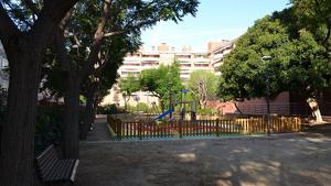 Estat del parc d'Àngel Guimerà després de la seva remodelació.