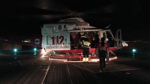 Helicóptero del 112 Cantabria evacúa al Hospital de Cruces a una niña alemana de 6 años