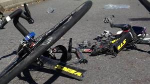 Imagen de archivo de un ciclista atropellado.