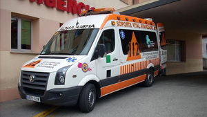 Imagen de archivo de una ambulancia del 112 Extremadura