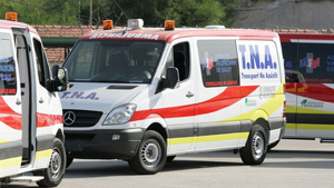 Imagen de archivo de unas ambulancias de Valencia.