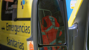 Imagen de una ambulancia de Castilla y León-Sacyl