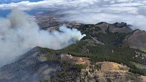 Imagen del grave incendio de Gran Canaria